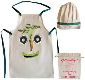 Little Mashers Veg Face Child's Apron And Chef Hat Set