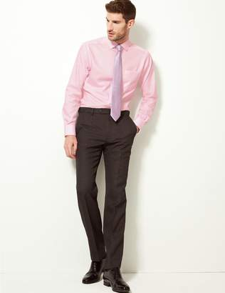Marks and Spencer Pure Cotton Non Iron Tailored Fit Shirt