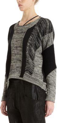 Helmut Lang Colorblock Melange Pullover