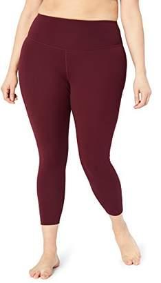"Core 10 Amazon Brand Women's Standard Spectrum Yoga High Waist 7/8 Crop Legging-24"""