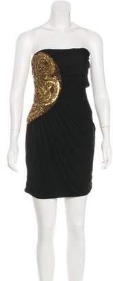 Jay Ahr Embellished Strapless Dress