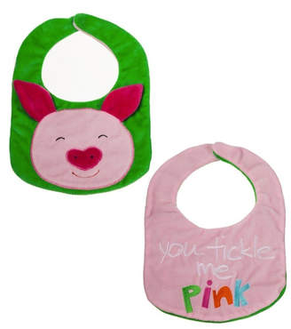 Evergreen Reversible Bib- Pig