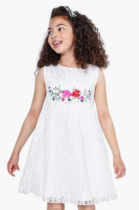 boohoo Girls Boutique Embroidered Lace Dress