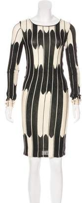 Alice + Olivia Abstract Print Scoop Neck Dress