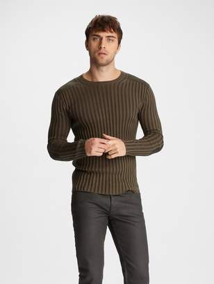 John Varvatos RIBBED CREWNECK SWEATER