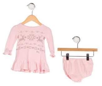Ralph Lauren Girls' Printed Knit Dress Set