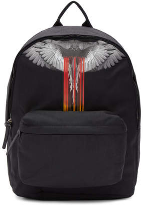 Marcelo Burlon County of Milan Black Wings Barcode Backpack