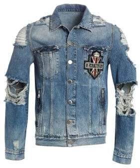 Balmain Destroyed Denim Jacket