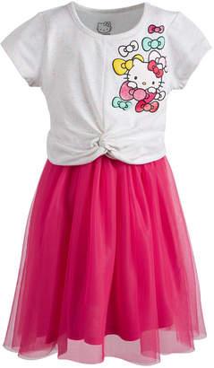 Hello Kitty Little Girls Twist-Front Dress