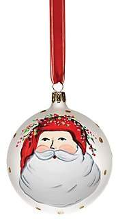 VIETRI VIETRI Old St. Nick Assorted Ornaments 4-Piece Set