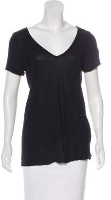 AllSaints Short Sleeve V-Neck Top