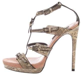 Barbara Bui Platform Lizard Sandals