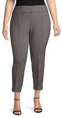 Lord & Taylor Plus Goldeneye Printed Trousers