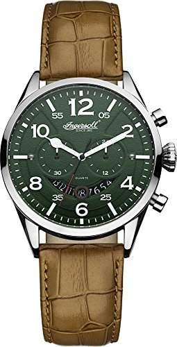 Ingersoll Men's INQ029GRSL Compton Analog Display Japanese Quartz Brown Watch