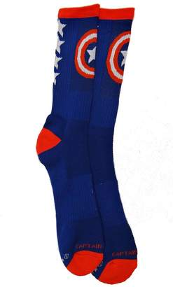 Marvel Comics Captain America Performance Men's Crew Socks