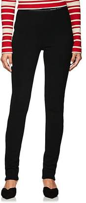 Prada Women's Logo-Waistband Rib-Knit Leggings - Black