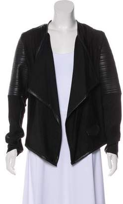 Generation Love Vegan Leather-Trimmed Woven Jacket w/ Tags