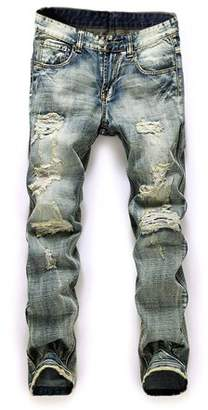 Men Plus ISAKO Size Straight Jeans Male Distressed Denim Pants Biker Jeans Ro Designer Bin Jeans for Men Religious Outfits