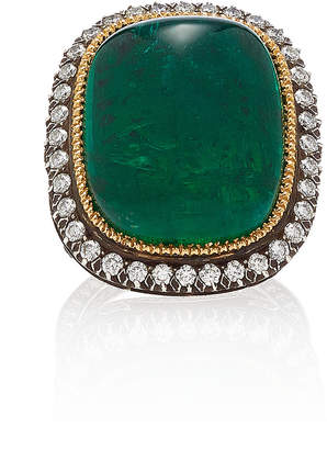 Sanjay Kasliwal One-Of-A-Kind Cabochon Emerald Ring