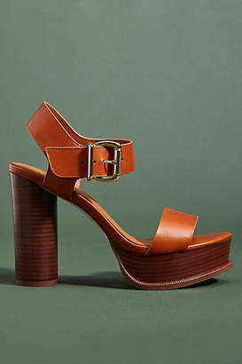 Franco Sarto Leather Platform Heels