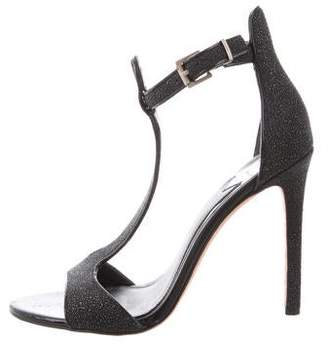 Brian Atwood Leather T-Strap Sandals