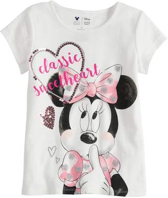 Disney Minnie Mouse Girls 4-7 Sweetheart Tee By Jumping Beans