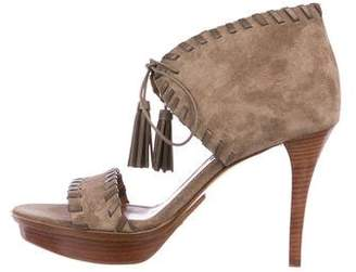 Ralph Lauren Suede Platform Sandals