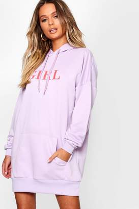 boohoo Girl Crushin Oversized Sweatshirt Dress