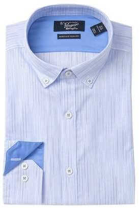 Original Penguin Striped Heritage Slim Print Dress Shirt