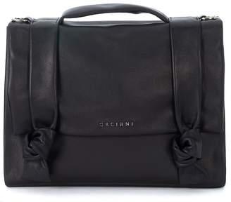 Orciani Bella Black Leather Satchel