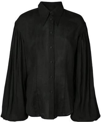 KHAITE bishop sleeve shirt