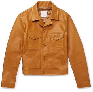 Sandro Slim-Fit Leather Jacket