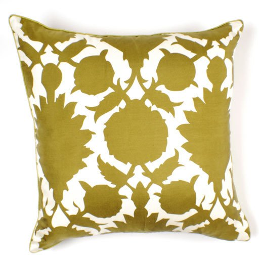 Thomas Paul Flock Silk Twill Pillow - 22 X 22