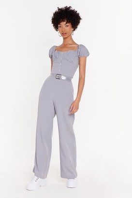 Nasty Gal High On Life High-Waisted Linen Trousers
