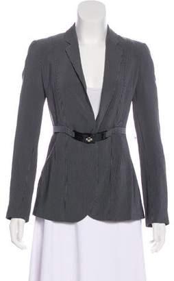 Emporio Armani Belted Striped Blazer