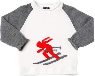 Il Gufo Ski Intarsia Wool Knit Sweater