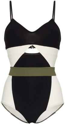Flagpole Joellen Colourblock Cutout Swimsuit