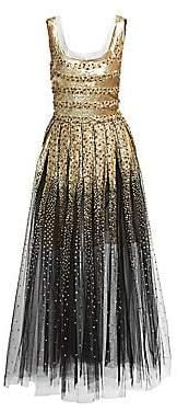 Oscar de la Renta Women's Beaded Sleeveless Tulle Dress