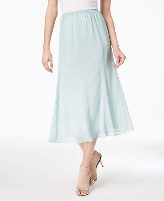 Alex Evenings Chiffon Midi Skirt