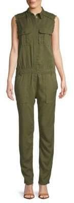 Frayed Sleeveless Jumpsuit