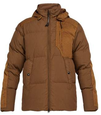 C.P. Company Goggle Down Filled Cotton Blend Jacket - Mens - Light Brown