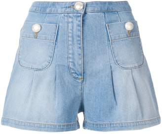 Moschino denim shorts with front pockets