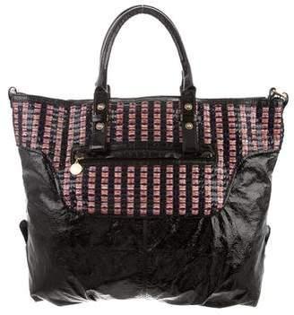 Stella McCartney Raffia-Trimmed Vegan Leather Bag
