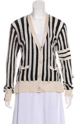 Thom Browne Striped Button-Up Cardigan