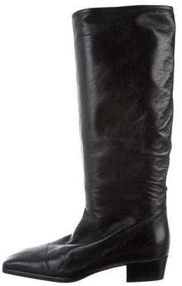 Chanel CC Leather Boots