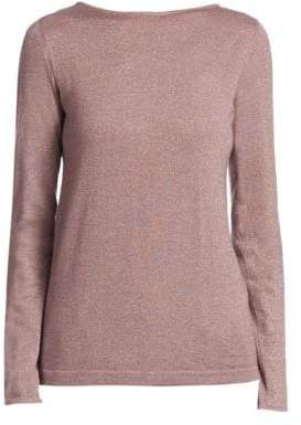 Brunello Cucinelli Cashmere Silk Lurex-Knit Top