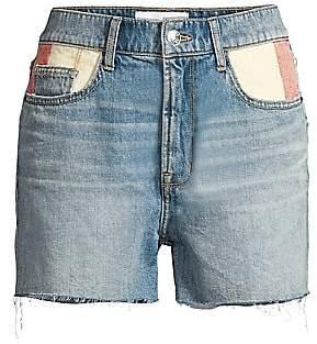 Current/Elliott Women's The Aficionado Colorblock Pocket Shorts