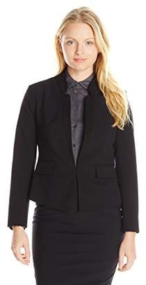 Ellen Tracy Women's Petite Size Inverted Rever Jacket