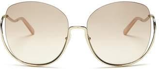 Chloé Women's Milla Oversized Round Sunglasses, 64mm