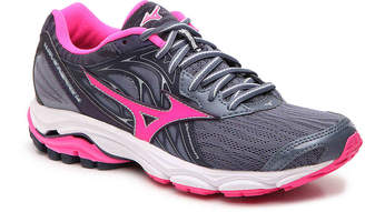 Mizuno Wave Inspire 14 Performance Running Shoe -Dusty Blue/Pink - Women's